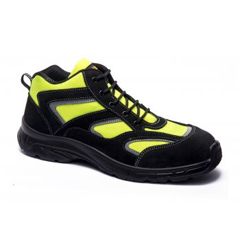 HIGH-VISIBILITY ANKLE BOOT FOR EMERGENCY SERVICES